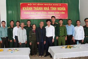 Bộ Tư lệnh Quân khu 3 khánh thành nhà tình nghĩa tặng gia đình chính sách