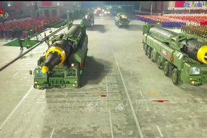 Mẫu tên lửa đạn đạo mới của Triều Tiên có thể mang đầu đạn nặng tới 3 tấn