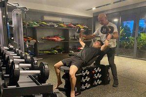 Được vợ đăng ảnh cổ vũ tập gym Cường Đô La lại có phản ứng bất ngờ