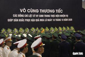 Lễ truy điệu 22 chiến sĩ Đoàn Kinh tế quốc phòng 337