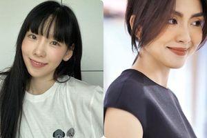 Taeyeon và Hà Tăng 'khởi xướng' xu hướng tóc mái che mặt bánh bao, trán sân bay
