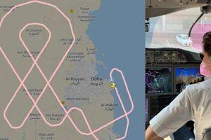 Phi hành đoàn gồm toàn nữ 'vẽ' ruy băng trên bầu trời nhân Tháng nhận thức về ung thư vú