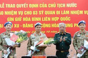 3 sĩ quan Việt Nam làm nhiệm vụ gìn giữ hòa bình LHQ