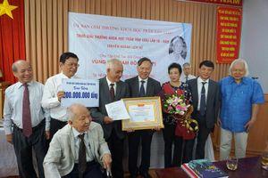 Công trình Vùng đất Nam Bộ được trao giải Trần Văn Giàu