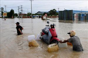 39 người bị tử vong do lũ lụt tại Campuchia
