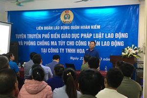 Liên đoàn Lao động quận Hoàn Kiếm tuyên truyền, phổ biến pháp luật lao động và phòng chống ma túy