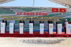 Khởi công đường nối từ thành phố Thanh Hóa đến Cảng hàng không quốc tế Thọ Xuân