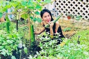 Cuộc sống giản đơn của Công Vinh - Thủy Tiên: Cùng chăm sóc vườn rau sạch, tự thu hoạch củ quả và tặng hàng xóm