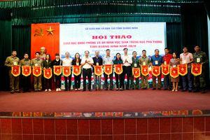 Hội thao giáo dục quốc phòng an ninh học sinh THPT năm 2020