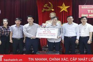 Tỉnh Hà Giang cùng nhiều tổ chức, đơn vị ủng hộ đồng bào vùng lũ Hà Tĩnh
