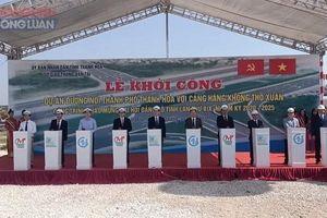 Khởi công dự án đường nối thành phố Thanh Hóa với Cảng hàng không Thọ Xuân