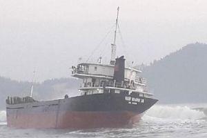 Tàu hàng mất hệ thống điện, bị mắc cạn tại biển Đề Gi