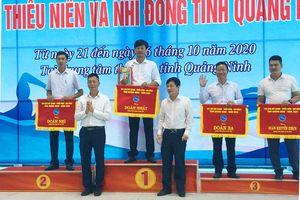 Đông Triều nhất toàn đoàn Giải bơi thanh, thiếu niên, nhi đồng tỉnh 2020