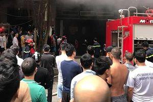 Kịp thời dập tắt hỏa hoạn tại hầm chung cư Đại Thanh
