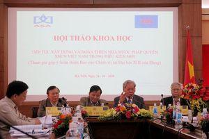 Xây dựng Nhà nước pháp quyền phù hợp với quá trình cải cách và hội nhập quốc tế