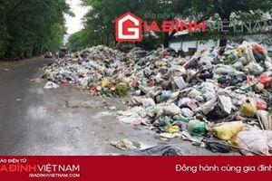 Dân 'chết ngạt' vì rác thải chất đống hàng km trên đường Trần Hữu Dực - Hà Nội