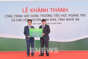 Vietcombank tài trợ 15 tỷ đồng xây dựng trường học tại Nghệ An
