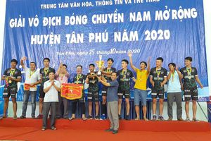 Đội Trường THPT Tôn Đức Thắng vô địch Giải bóng chuyền nam huyện Tân Phú mở rộng năm 2020