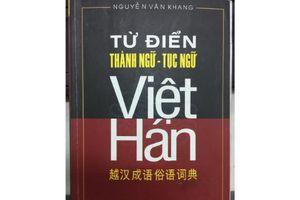 'Từ điển thành ngữ, tục ngữ Việt – Hán' nhiều sai sót