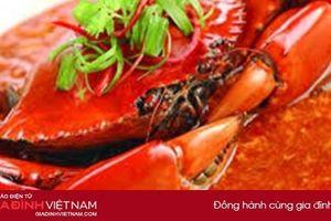 Cách làm cua sốt ớt cay nồng – đặc sản nổi tiếng Singapore