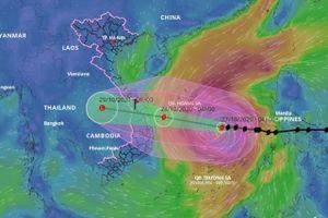 Cơn bão mạnh nhất trong 20 năm qua sẽ đổ bộ vào các tỉnh từ Thừa Thiên Huế đến Phú Yên vào đêm nay