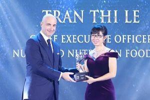 NutiFood lập 'hat-trick' giải thưởng về doanh nghiệp và lãnh đạo