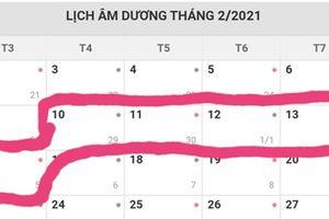Trình Thủ tướng lịch nghỉ Tết Âm lịch và lễ Quốc khánh năm 2021
