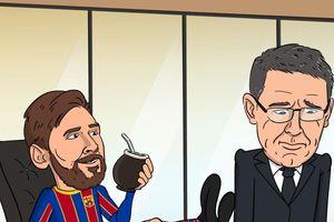 Ảnh chế: Messi có phải là chủ tịch thực sự của Barcelona?