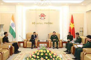 Lãnh đạo Bộ Quốc phòng tiếp Đại sứ Ấn Độ tại Việt Nam