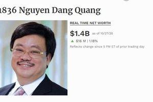 Chủ tịch Masan quay trở lại 'câu lạc bộ' tỷ phú USD của thế giới