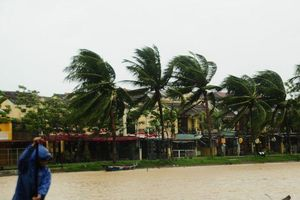 Nước biển tràn vào Cù Lao Chàm, phố cổ Hội An run rẩy trong bão