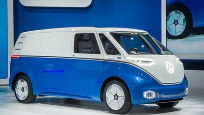 Volkswagen 'nhá hàng' xe van điện tự lái I.D. Buzz Cargo