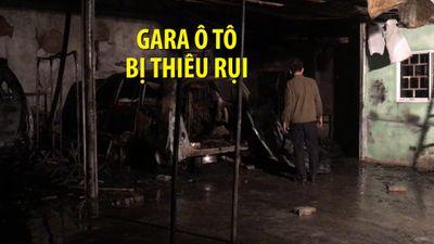 Lửa cháy dữ dội, thiêu rụi gara ô tô trong đêm