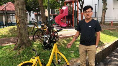 Xe đạp công nghệ vứt bỏ tràn lan trên phố tại Singapore