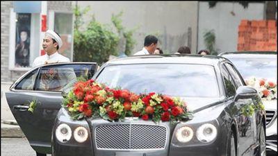 Choáng với xe hoa hàng chục tỷ đồng trong đám cưới siêu mẫu Lan Khuê