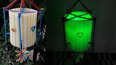 Nhìn lại cách làm đèn trung thu siêu dễ thương từ ống hút