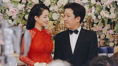 Trường Giang - Nhã Phương hạnh phúc trong lễ rước dâu