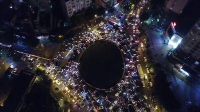 Giao thông Hà Nội ùn tắc nhìn từ flycam
