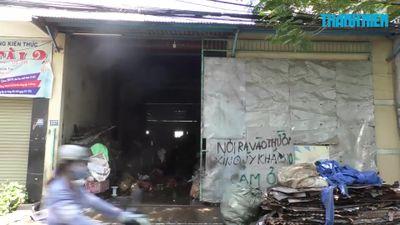 Cháy kho phế liệu lúc chủ đi vắng, cả khu phố náo loạn