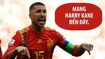 Ramos lớn tiếng đe nẹt Kane trước trận đại chiến Tây Ban Nha - Anh