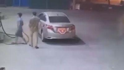 Người đàn ông đi ô tô quỵt tiền đổ xăng lúc rạng sáng ở Hà Nội