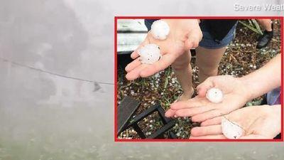 Cơn mưa đá kinh hoàng xuất hiện tại Úc