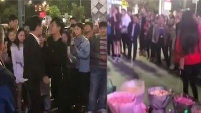 Cùng cầu hôn một cô gái, hai chàng trai lao vào đánh nhau túi bụi