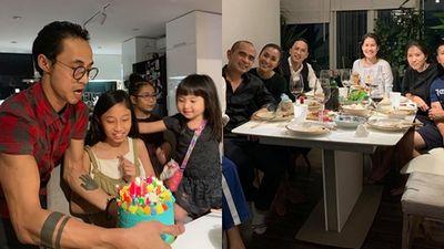 Phạm Anh Khoa tưng bừng mừng sinh nhật con gái bên vợ chồng Tăng Thanh Hà