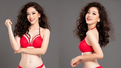 Á hậu Phương Nga diện bikini đỏ khoe trọn 3 vòng nóng bỏng thiêu đốt mọi ánh nhìn