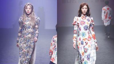 Áo dài Việt xuất hiện trên sàn runway của Tuần lễ thời trang Seoul