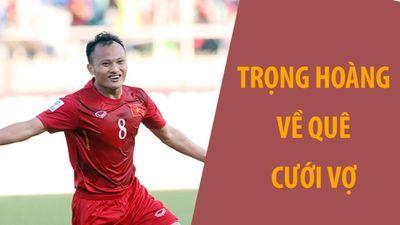Đội tuyển Việt Nam xếp hàng mừng cưới Trọng Hoàng