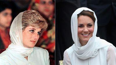 Công nương Kate và mẹ chồng Diana mang trang phục tương đồng đến ngỡ ngàng