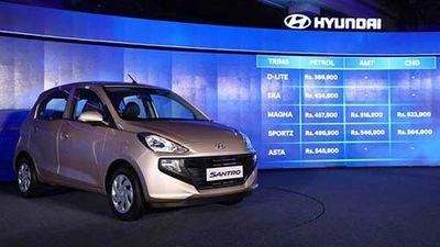 Ra mắt Hyundai Santro 2019 'chốt giá' từ 124 triệu đồng