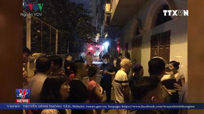 Cháy cột điện tại Hà Nội